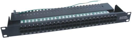 111701.  50 Port UTP CAT3 Krone Patch Panel 19 Inch 1U(Integrated)