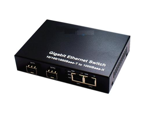 120905. 2 SFP Slot/LC connect + 2 RJ45 fiber Switch