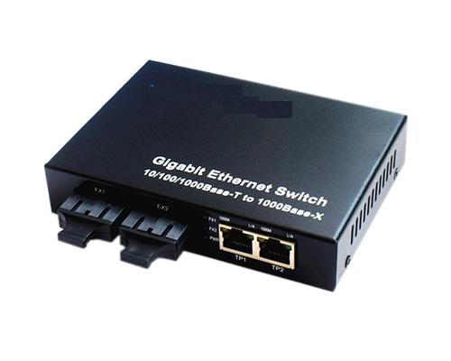 120910. 2 RJ45+2 Fiber Gigabit Ethernet Fiber Switch